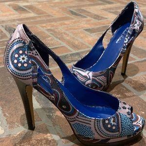 Michael Antonio Peep-Toe Heels